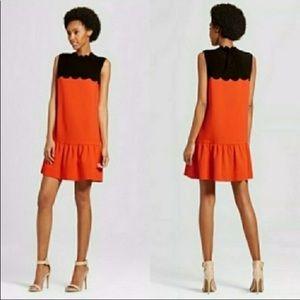 Victoria Beckham for Target  Scallop Neck Dress